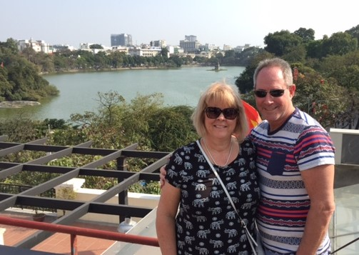 Neil and Karen in Vietnam