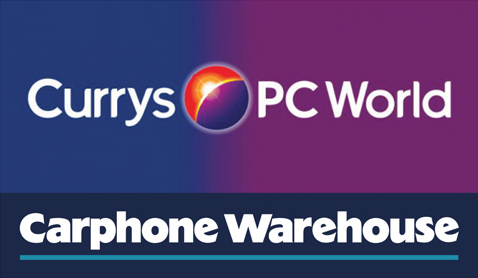 Carphone Warehouse, currys PC Wold